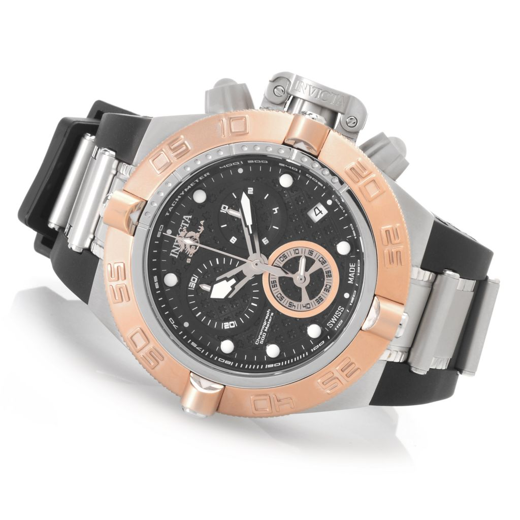 627-985 - Invicta 50mm Subaqua Noma IV Swiss Made Quartz Chronograph Rubber Strap Watch