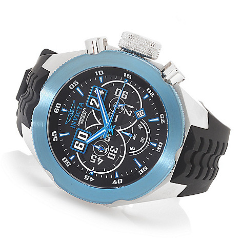 627-989 - Invicta 50mm I Force Quartz Chronograph Stainless Steel Silicone Strap Watch