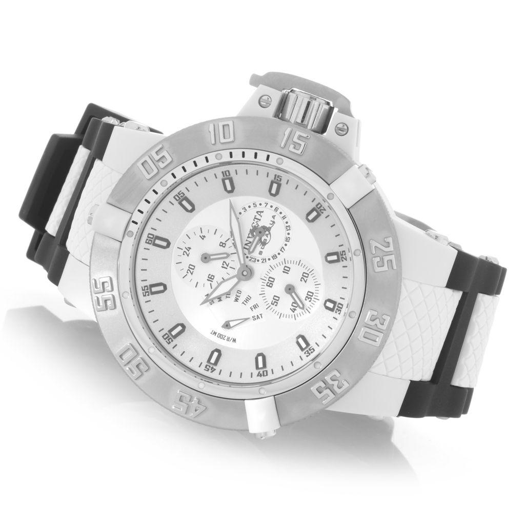 627-990 - Invicta 50mm Subaqua Noma III Anatomic Quartz Multi Function Polyurethane Strap Watch