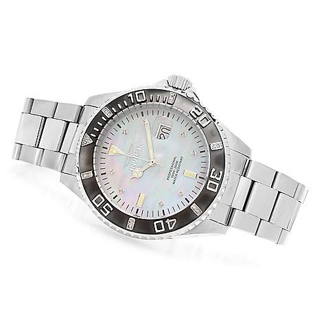 627-995 - Invicta 47mm Pro Diver Quartz Diamond Accented Stainless Steel Bracelet Watch