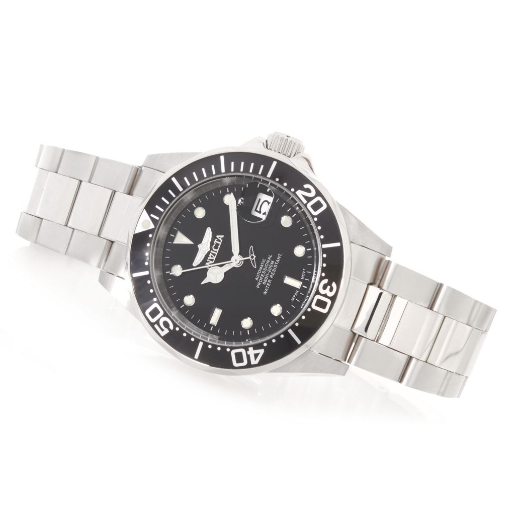 627-997 - Invicta 40mm Pro Diver Automatic Stainless Steel Bracelet Watch w/ One-Slot Dive Case