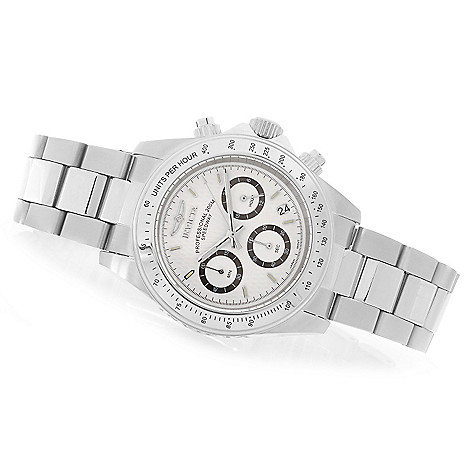 627-999 - Invicta 40mm Speedway Quartz Chronograph Stainless Steel Bracelet Watch w/ Three-Slot Travel Box