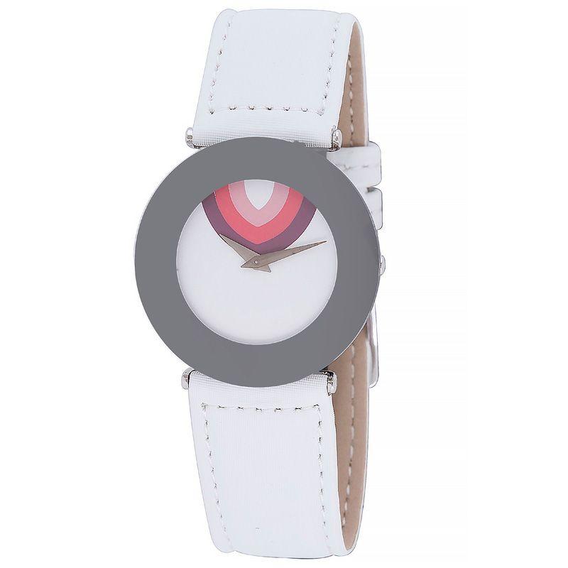 628-002 - Jowissa Women's Safira 99 Swiss Made Quartz Satin & Leather Strap Watch