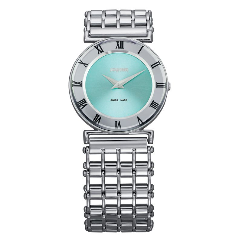 628-006 - Jowissa Women's Roma Pastell Swiss Made Quartz Stainless Steel Bracelet Watch