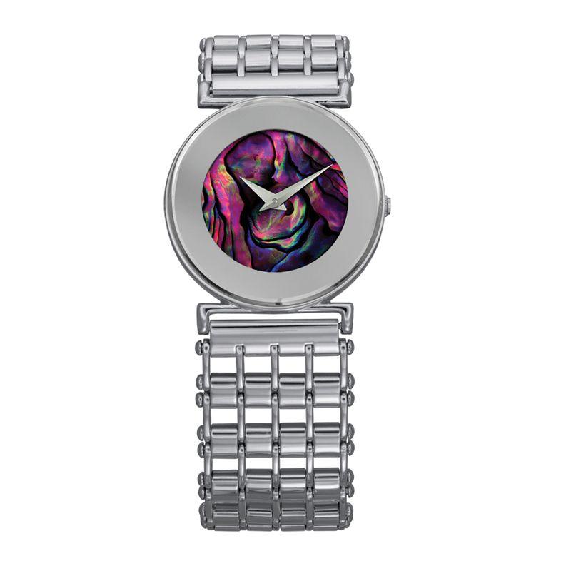 628-008 - Jowissa Women's Elegance Swiss Made Quartz Mother-of-Pearl Dial Stainless Steel Bracelet Watch