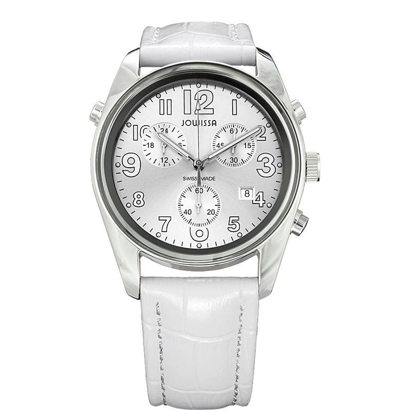 628-017 - Jowissa 40mm Ginebra Swiss Made Quartz Chronograph Leather Strap Watch