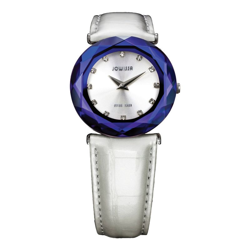 628-020 - Jowissa Women's Safira 99 Swiss Made Quartz Faceted Patent Leather Strap Watch