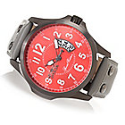 628-029 - Invicta 48mm GPX Defender Quartz Leather Strap Watch w/ Three-Slot Dive Case