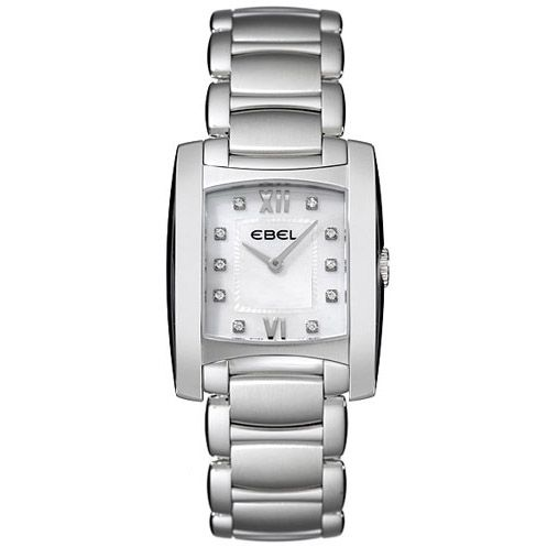 628-030 - Ebel Women's Brasilia Swiss Made Quartz Mother-of-Pearl Dial Stainless Steel Bracelet Watch