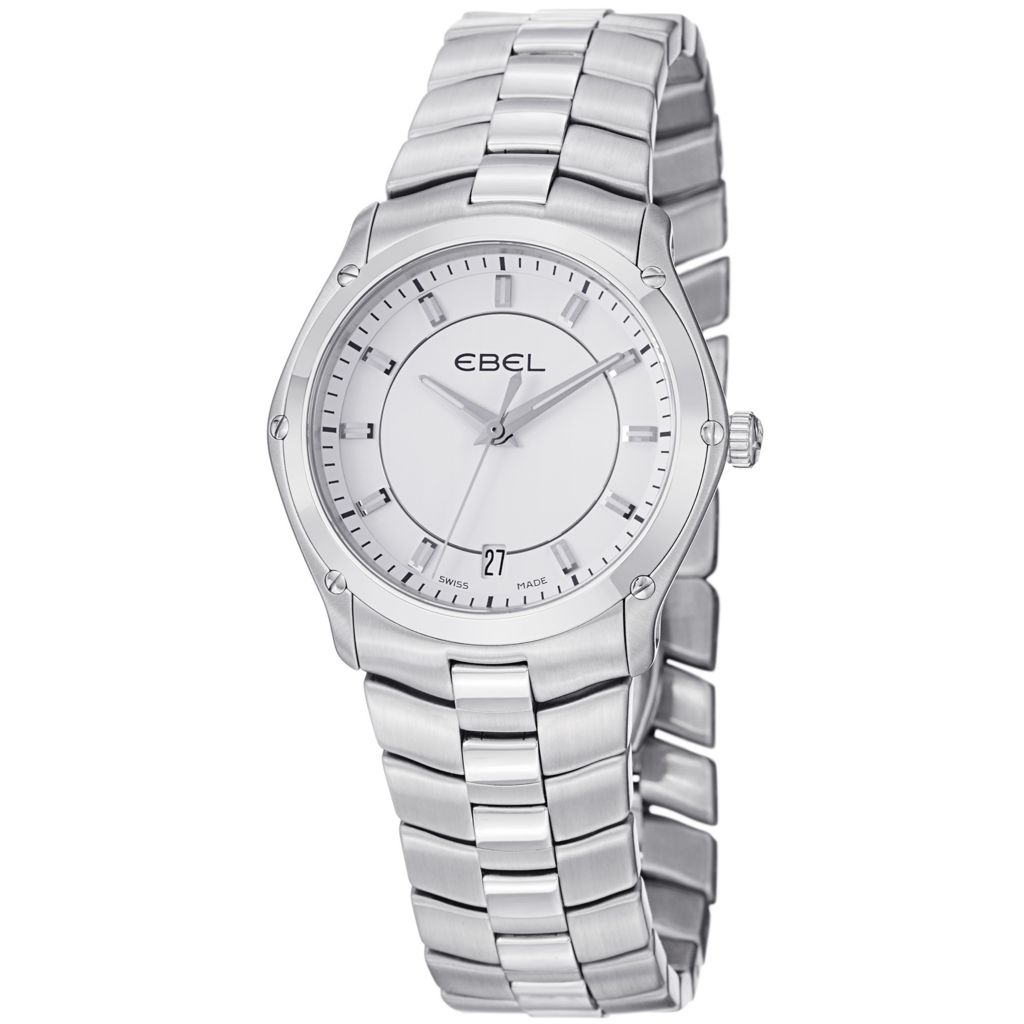628-035 - Ebel Women's Classic Sport Swiss Made Quartz Stainless Steel Bracelet Watch