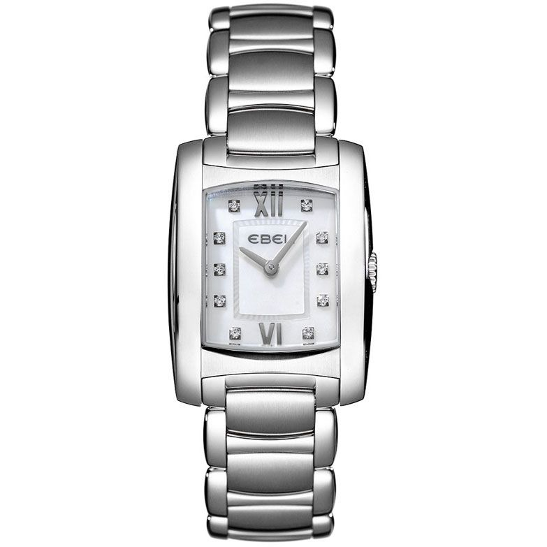 628-038 - Ebel Women's Brasilia Swiss Made Quartz Diamond Dial Stainless Steel Bracelet Watch