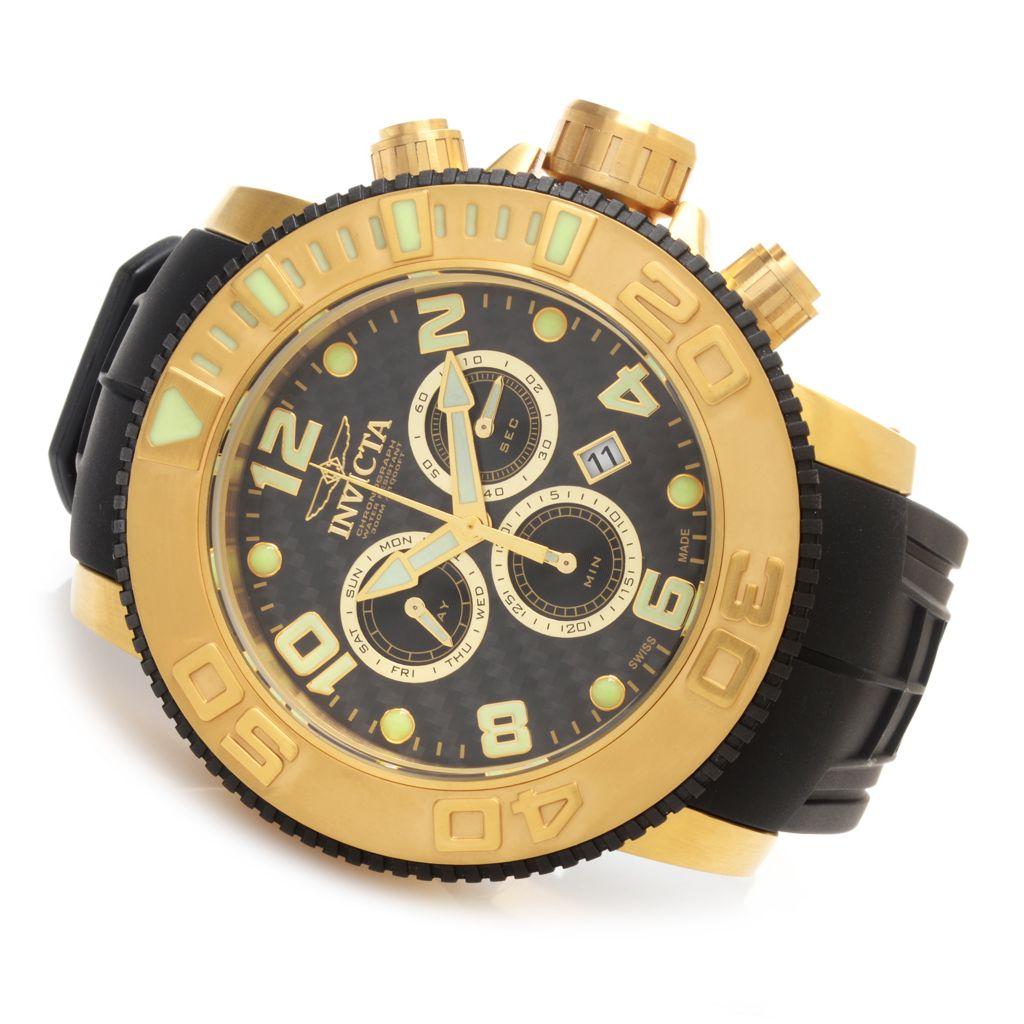 628-049 - Invicta 58mm Sea Hunter Swiss Made Z60 Quartz Chronograph Polyurethane Strap Watch