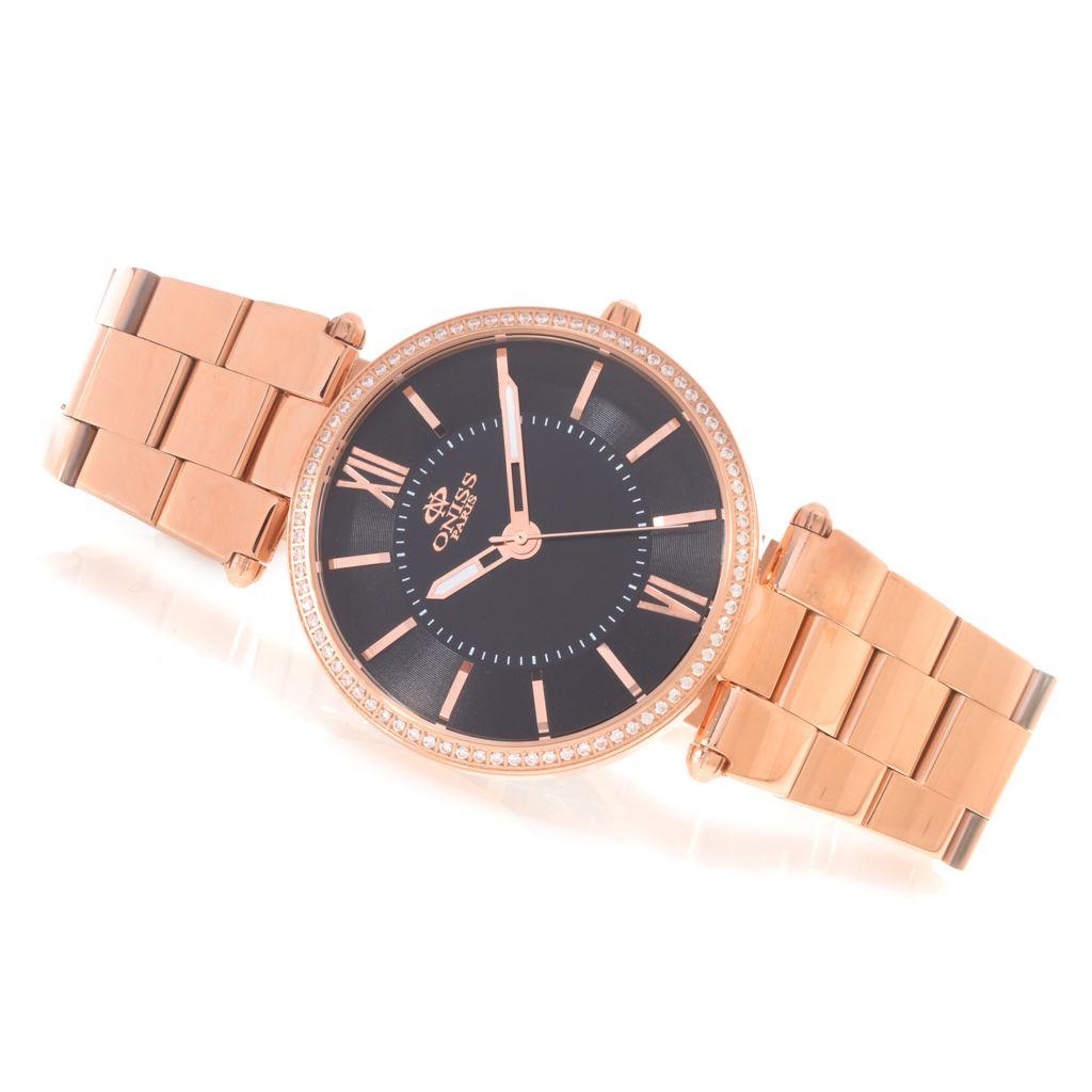 628-059 - Oniss Women's Stupendo Quartz Simulated Diamond Stainless Steel Bracelet Watch