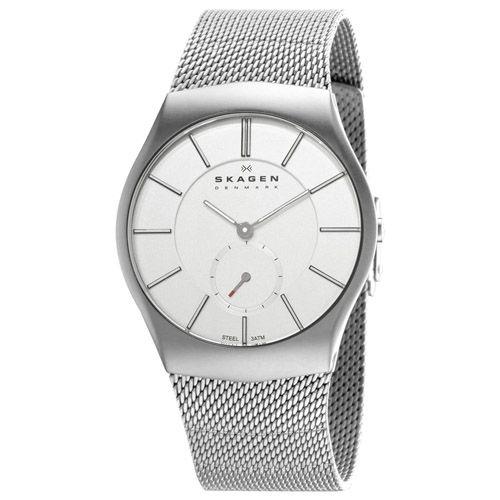 628-090 - Skagen 38mm Quartz Stainless Steel Mesh Bracelet Watch