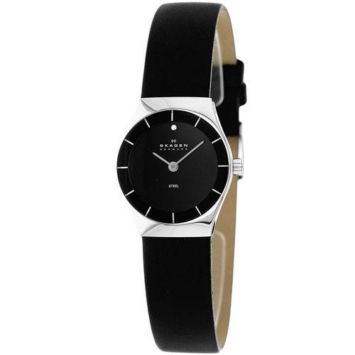 628-096 - Skagen Women's Grenen Quartz Leather Strap Watch