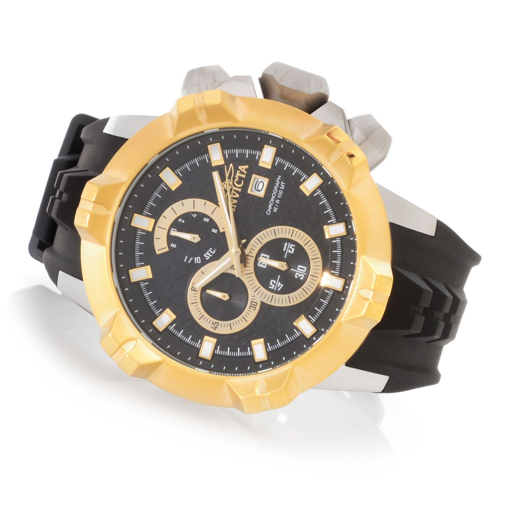 628-104 - Invicta 50mm I Force Quartz Chronograph Stainless Steel Silicone Strap Watch