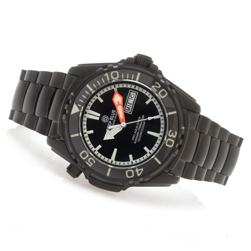 628-121 - Deep Blue 45mm Pro Aqua Diver Automatic Stainless Steel Bracelet Watch