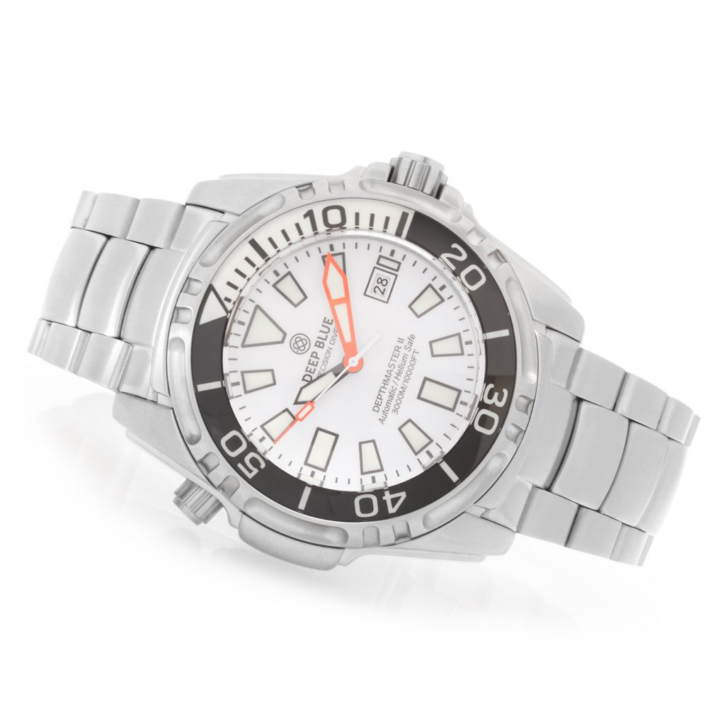 628-122 - Deep Blue 49mm Depthmaster II Automatic Stainless Steel Bracelet Watch