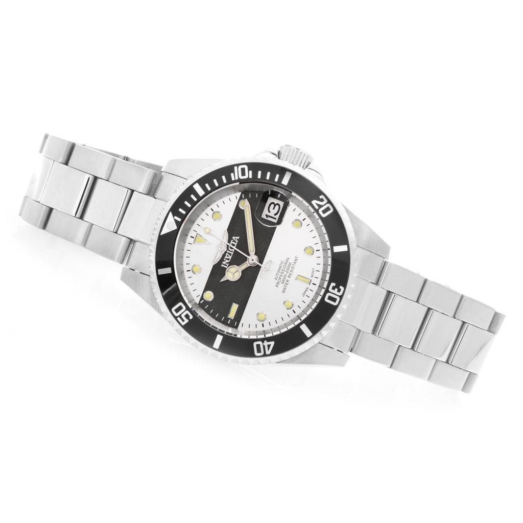 628-134 - Invicta 40mm Pro Diver Automatic Stainless Steel Bracelet Watch