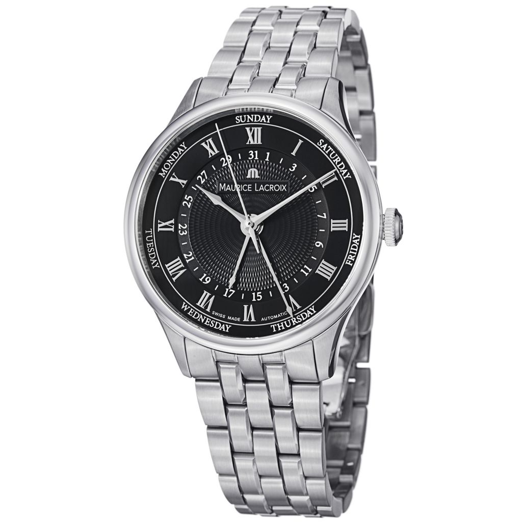 628-164 - Maurice Lacroix 40mm Masterpiece Swiss Made Automatic Stainless Steel Bracelet Watch
