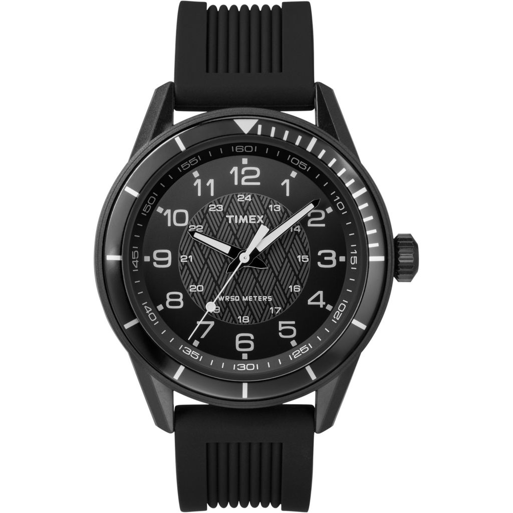 628-176 - Timex 42mm Elevated Classic Quartz Silicone Strap Watch