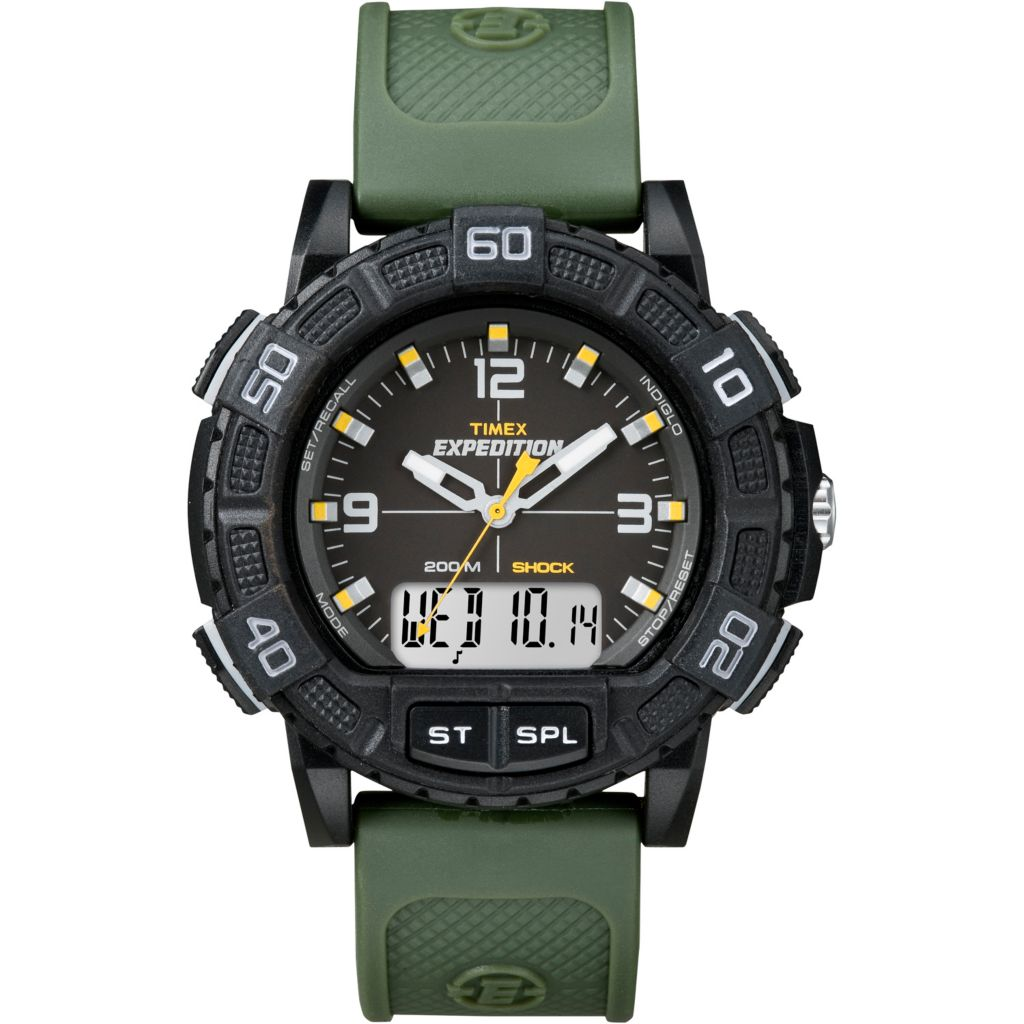 628-182 - Timex 45mm Expedition Double Shock Analog-Digital Resin Strap Watch