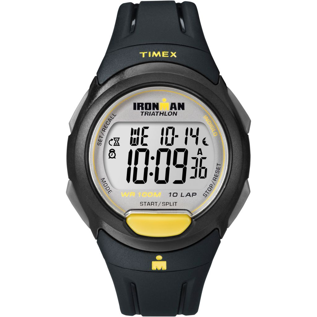 628-184 - Timex 41mm Ironman Traditional Digital 10-Lap Resin Strap Watch
