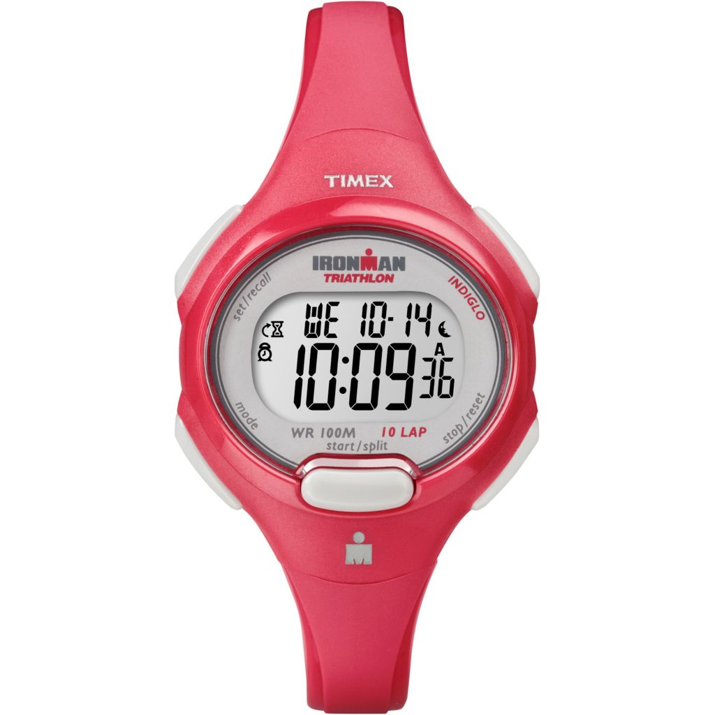 628-185 - Timex Women's Ironman Traditional Digital 10-Lap Resin Strap Watch