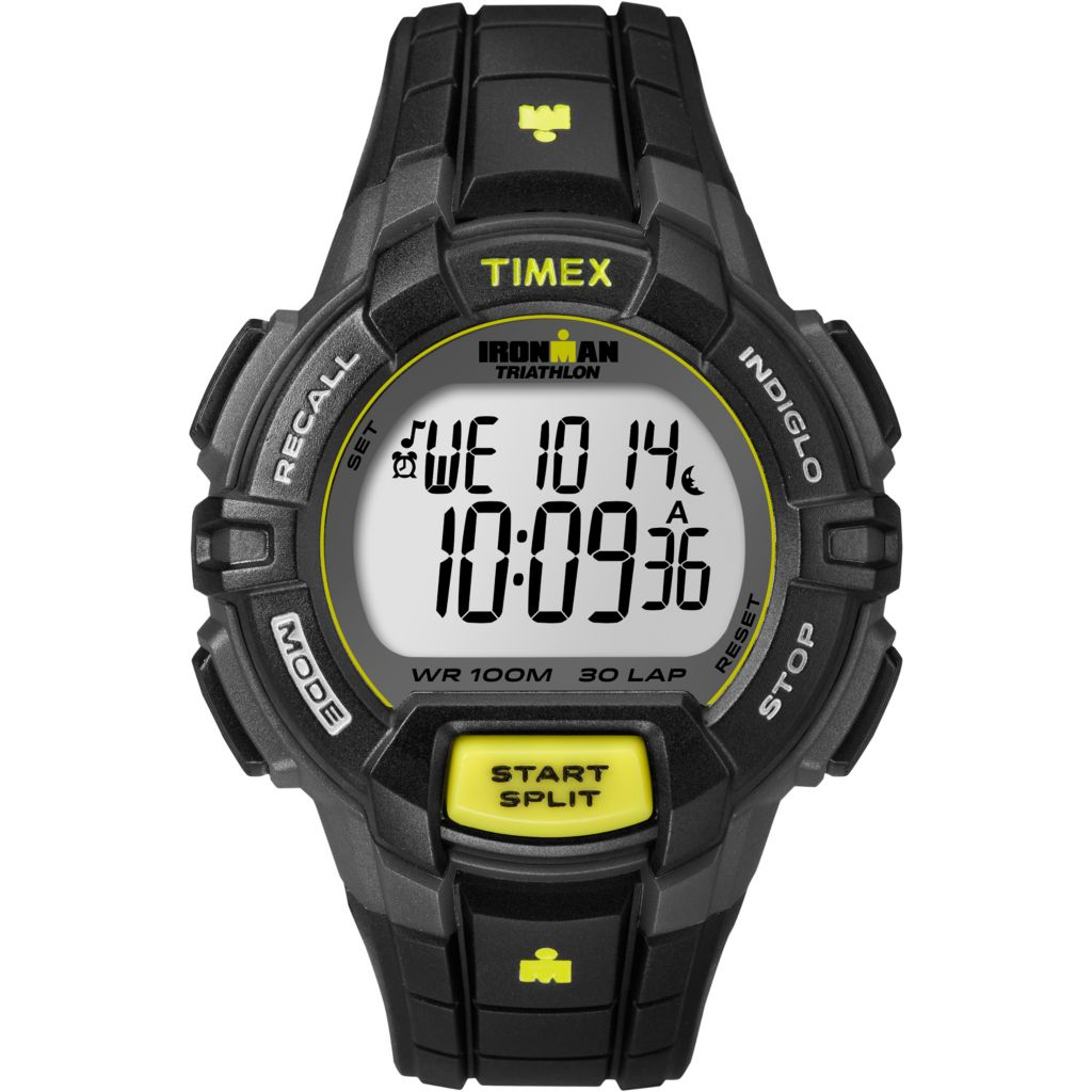 628-187 - Timex Men's Ironman Traditional Digital 30-Lap Resin Strap Watch
