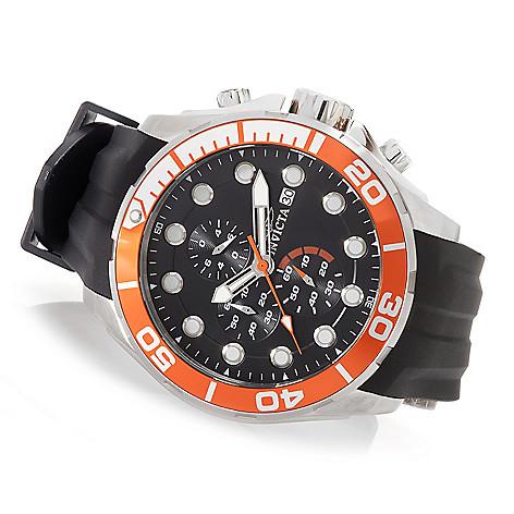 628-229 - Invicta 50mm Pro Diver Typhoon Quartz Chronograph Strap Watch w/ Eight-Slot Dive Case