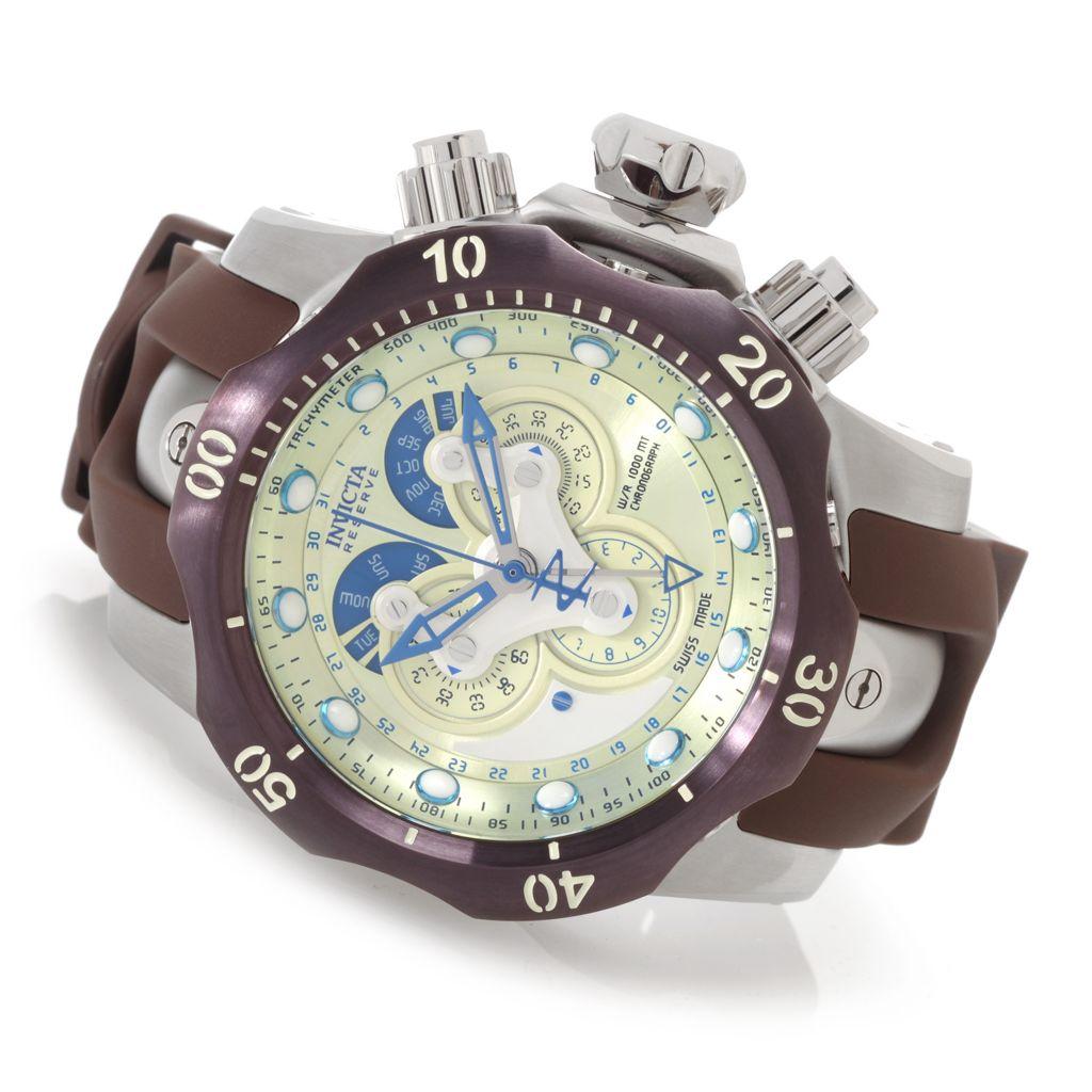 628-239 - Invicta Reserve 52mm Venom Swiss Quartz Chronograph Master Calendar Polyurethane Strap Watch