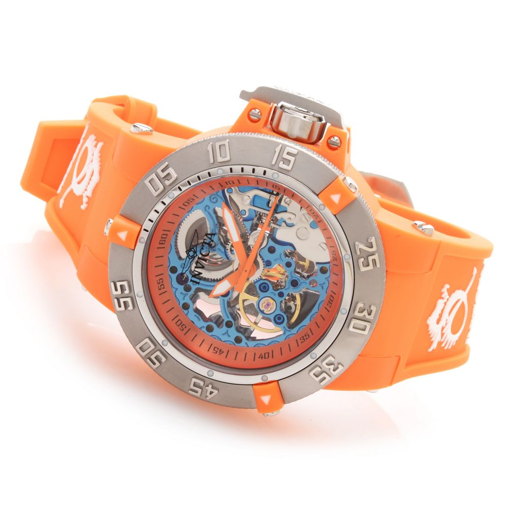 628-241 - Invicta 42mm Subaqua Noma III Mechanical Skeleton Dial Strap Watch