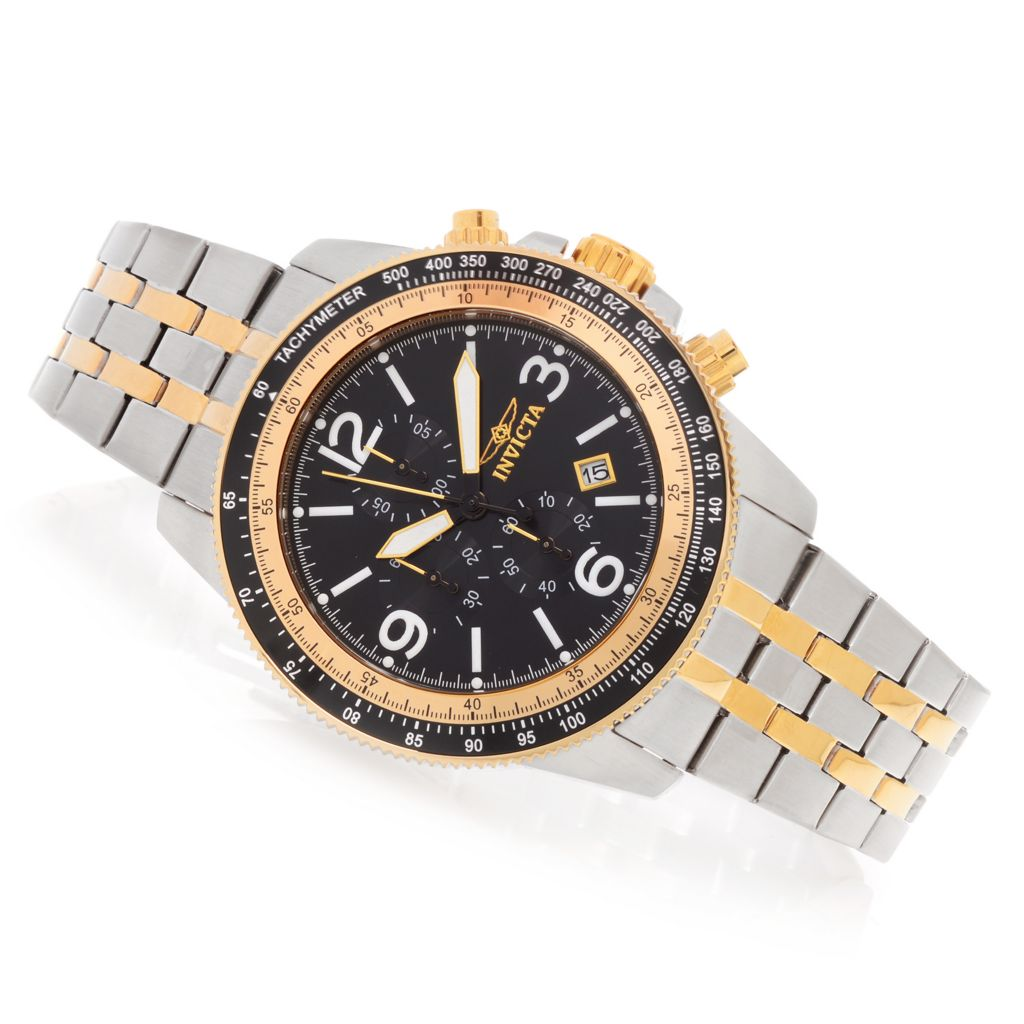 628-243 - Invicta 48mm Specialty Quartz Chronograph Stainless Steel Bracelet Watch w/ Three-Slot Dive Case