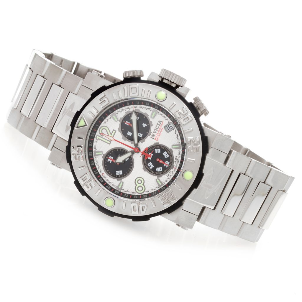 628-246 - Invicta Reserve 46mm Sea Rover Swiss Made Quartz Chronograph Stainless Steel Bracelet Watch