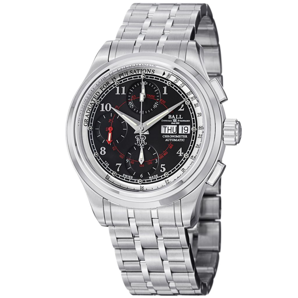 628-305 - Ball 41mm Trainmaster Pulsemeter Swiss Made Automatic COSC Stainless Steel Bracelet Watch