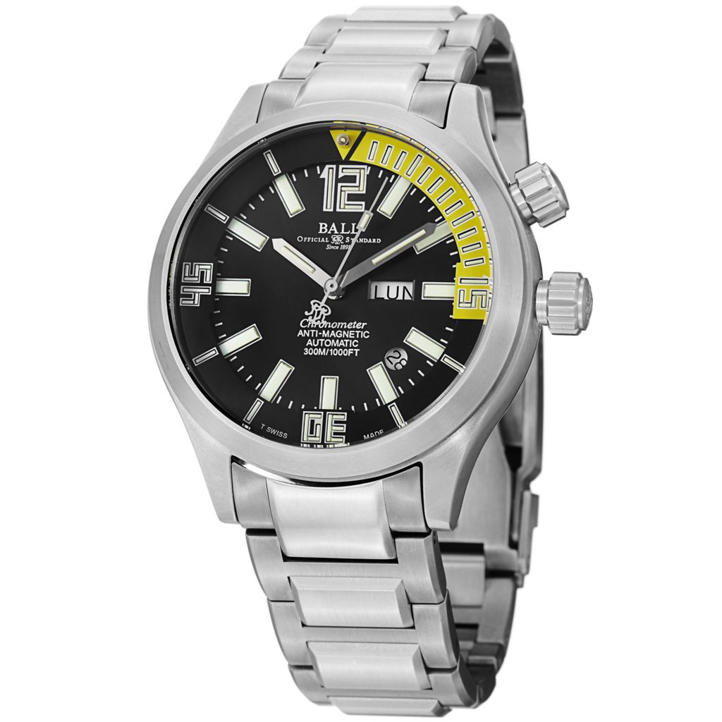 628-309 - Ball 44mm Engineer Master II Swiss Made Automatic COSC Titanium Bracelet Watch