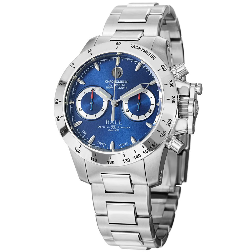 628-317 - Ball 40mm Engineer Hydrocarbon Swiss Made Automatic Chronograph COSC Stainless Steel Bracelet Watch