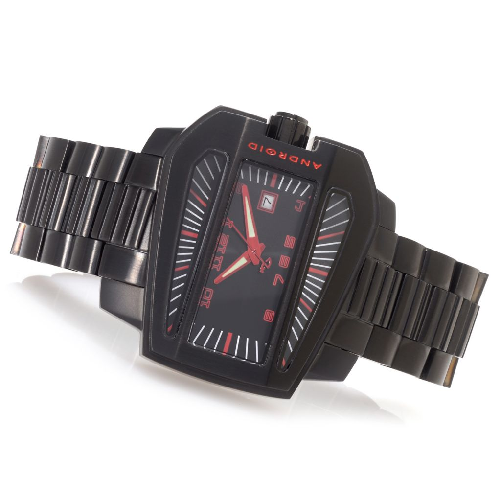 628-322 - Android 53mm Concept S Limited Edition Automatic Bracelet Watch w/ 3-Slot Travel Case