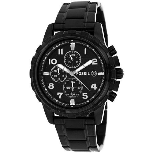 628-344 - Fossil 45mm Dean Quartz Chronograph Stainless Steel Bracelet Watch