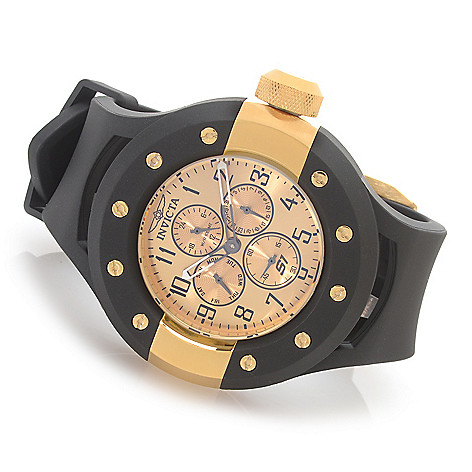 628-362 - Invicta 52mm S1 Rally Quartz Multi Function Stainless Steel Polyurethane Strap Watch