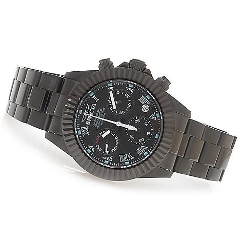 628-364 - Invicta 44mm Pro Diver Legacy Swiss Quartz Z60 Chronograph Bracelet Watch w/ Three-Slot Dive Case