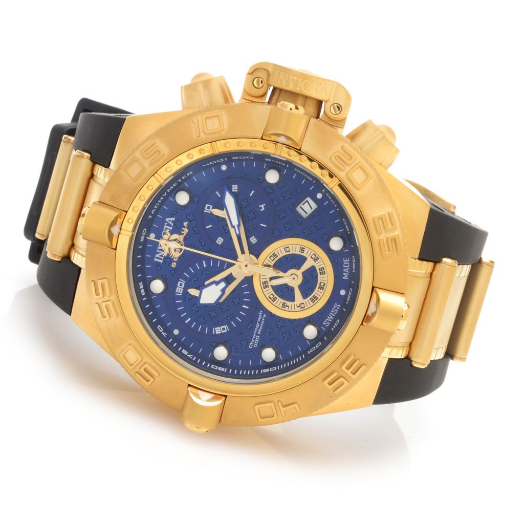 628-366 - Invicta 50mm Subaqua Noma IV Swiss Made Quartz Chronograph Rubber Strap Watch