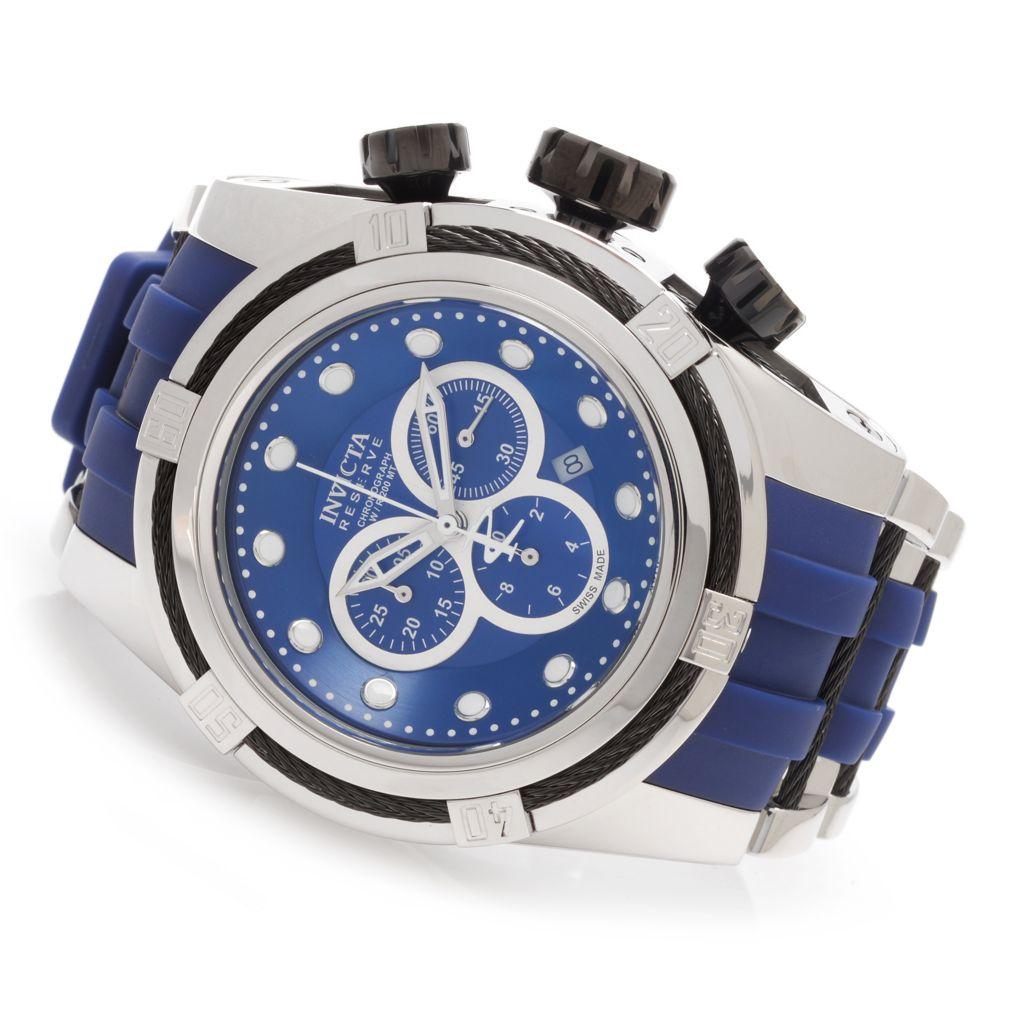 628-372 - Invicta Reserve 52mm Bolt Zeus Swiss Chronograph Polyurethane Strap Watch w/ Three-Slot Dive Case