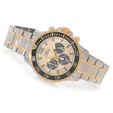 628-373 - Invicta 45mm Specialty Quartz Chronograph Stainless Steel Bracelet Watch w/ Three-Slot Travel Box