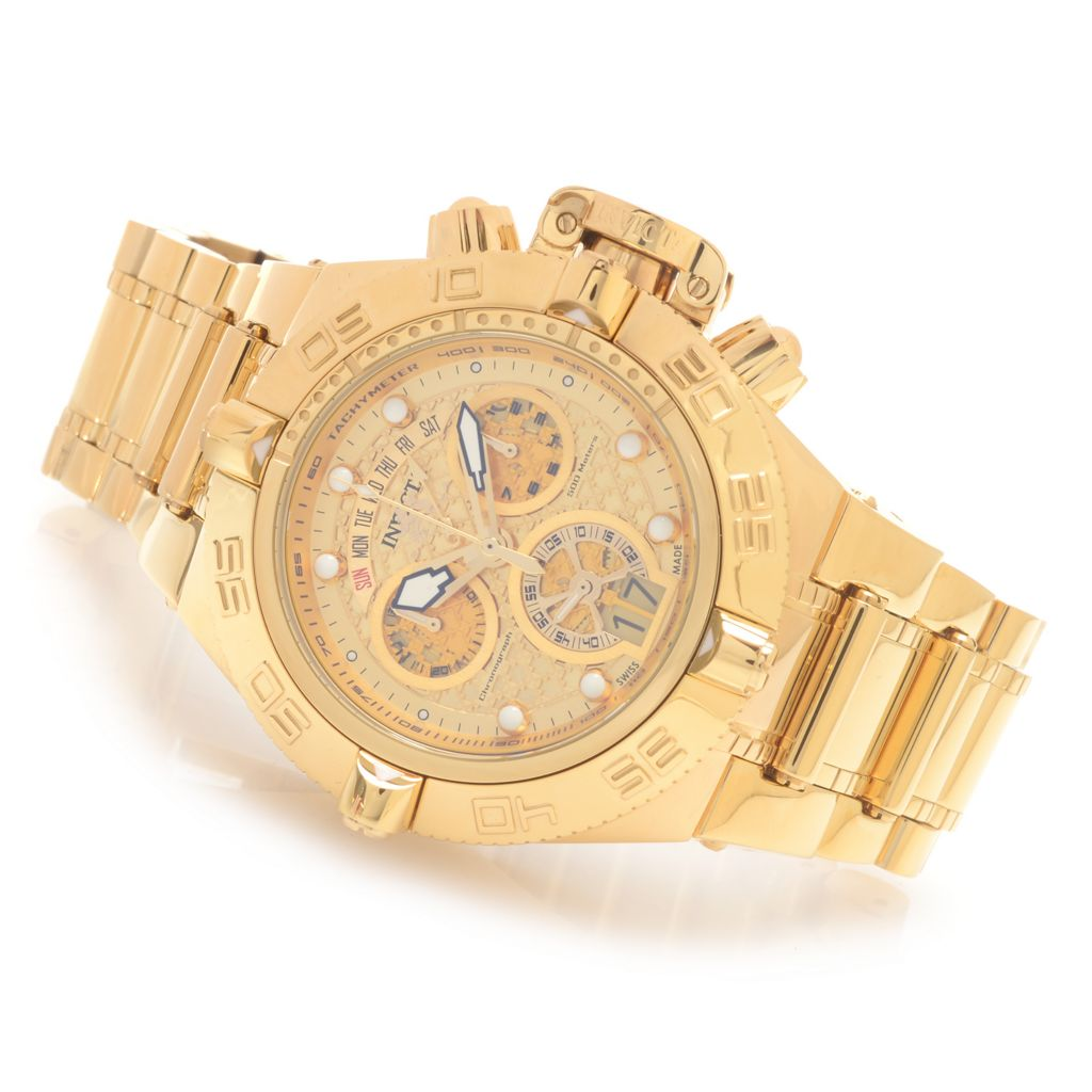 628-378 - Invicta 50mm Subaqua Noma IV Swiss Chronograph High Polish Stainless Steel Bracelet Watch