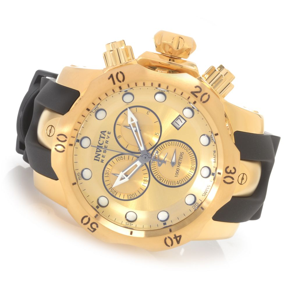 628-380 - Invicta Reserve 52mm Venom Swiss Made Quartz Chronograph Polyurethane Strap Watch