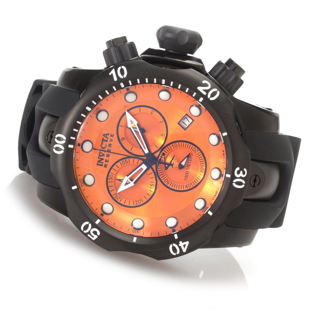 628-394 - Invicta Reserve 52mm Venom Swiss Made Quartz Chronograph Polyurethane Strap Watch