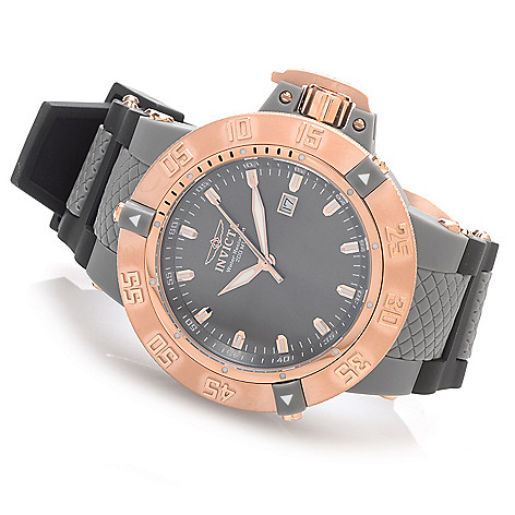 628-396 - Invicta 50mm Subaqua Noma III Anatomic Quartz Polyurethane Strap Watch