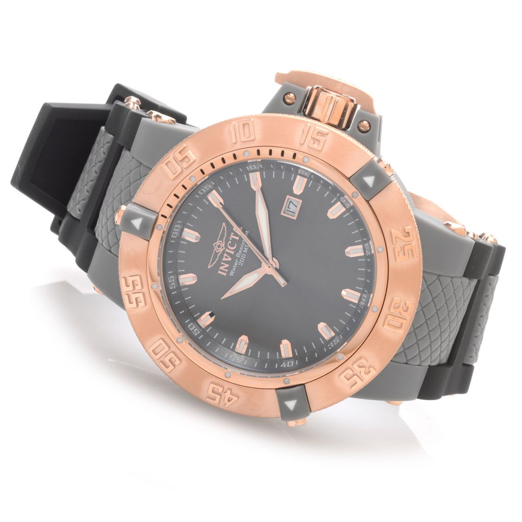 628-396 - Invicta 50mm Subaqua Noma III Anatomic Quartz Polyurethane Strap Watch