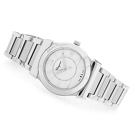 628-399 - Ferragamo Women's Vega Swiss Made Quartz Stainless Steel Bracelet Watch